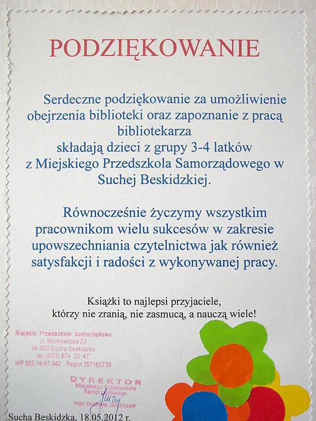 Zdjęcie z artykułu: 'Tydzień Bibliotek' 8-15 maja 2012r.